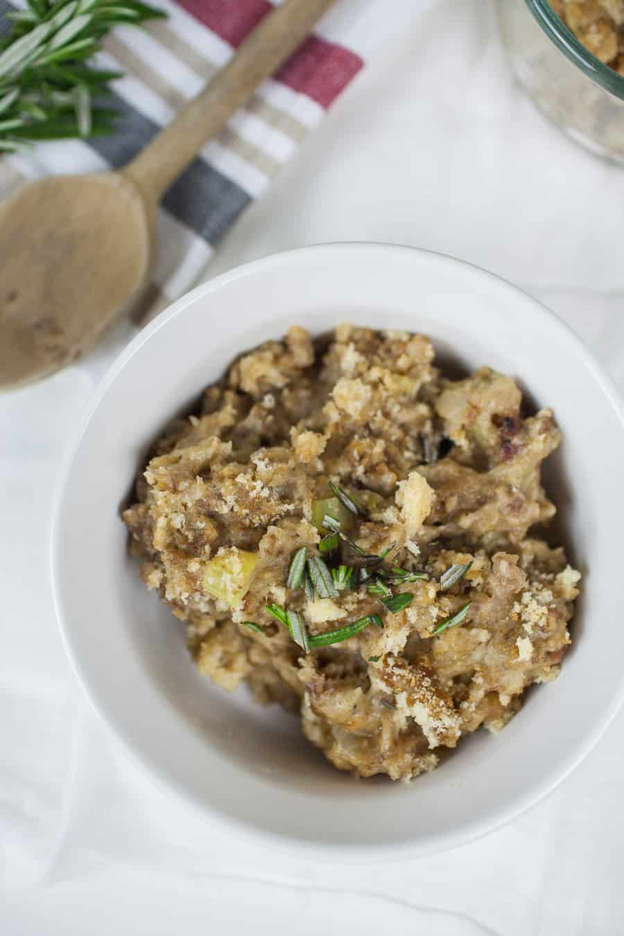 This stovetop sausage stuffing is a family favorite and is the perfect side dish to accompany your holiday turkey! Get this family recipe below.