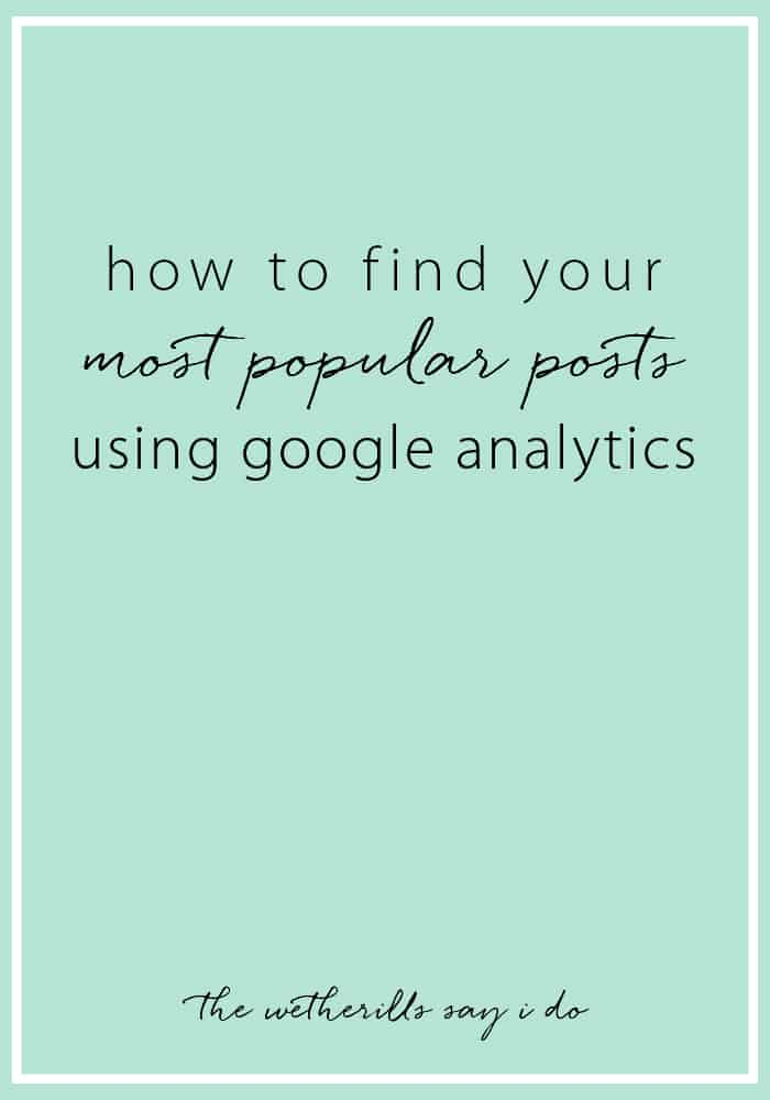 How to find your most popular posts using Google Analytics. Tips for understanding Google Analytics and setting it up, too!