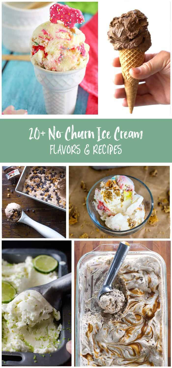 Try these no churn ice cream flavors this summer! Some of the best ice cream recipes without an ice cream machine!