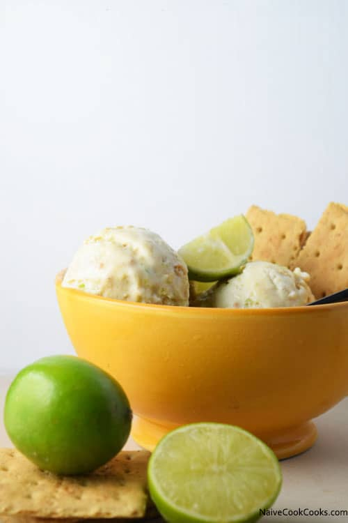 This lime cracker ice cream looks incredible!