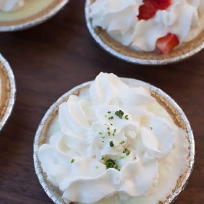 No Bake Whipped Cream Pies