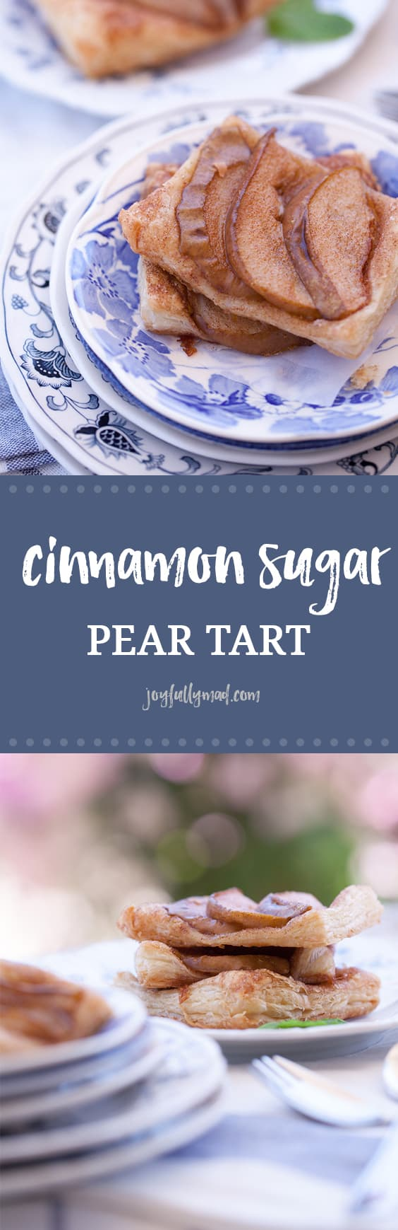 This cinnamon sugar pear tart is the perfect quick dessert idea. Just thaw a store bought pastry puff, season and add pears. Delicious dessert in under 30 minutes!