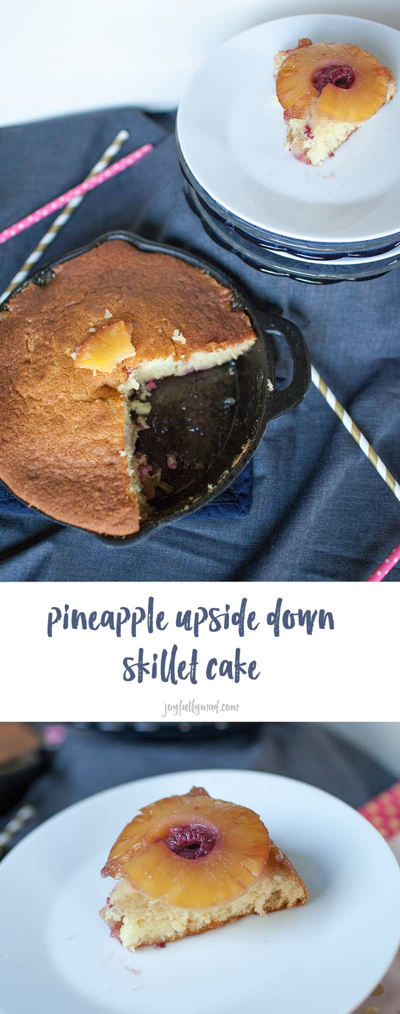This super easy dessert recipe is on that any one cake make. This classic pineapple upside down skillet cake is made in a cast iron skillet, giving it an extra rustic touch!