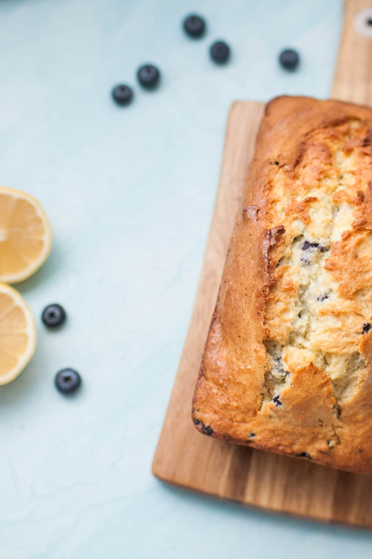 Lemon Blueberry Bread is the perfect brunch treat. This recipe takes a plain blueberry muffin mix and turns it into sweet, lemon blueberry bread with just a few additions.