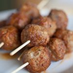 These honey sriracha meatballs are the perfect party appetizer that can be made in minutes!