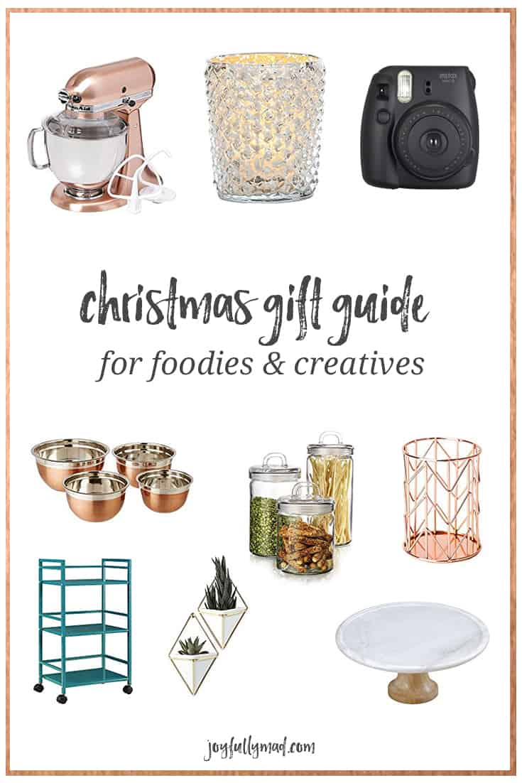Feminine Christmas Gift Guide for Creatives & Foodies | A Joyfully ...