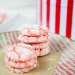 Ring in the holidays with these simple six ingredient peppermint crinkle cookies! These red and white cookies will be a hit at your holiday parties.