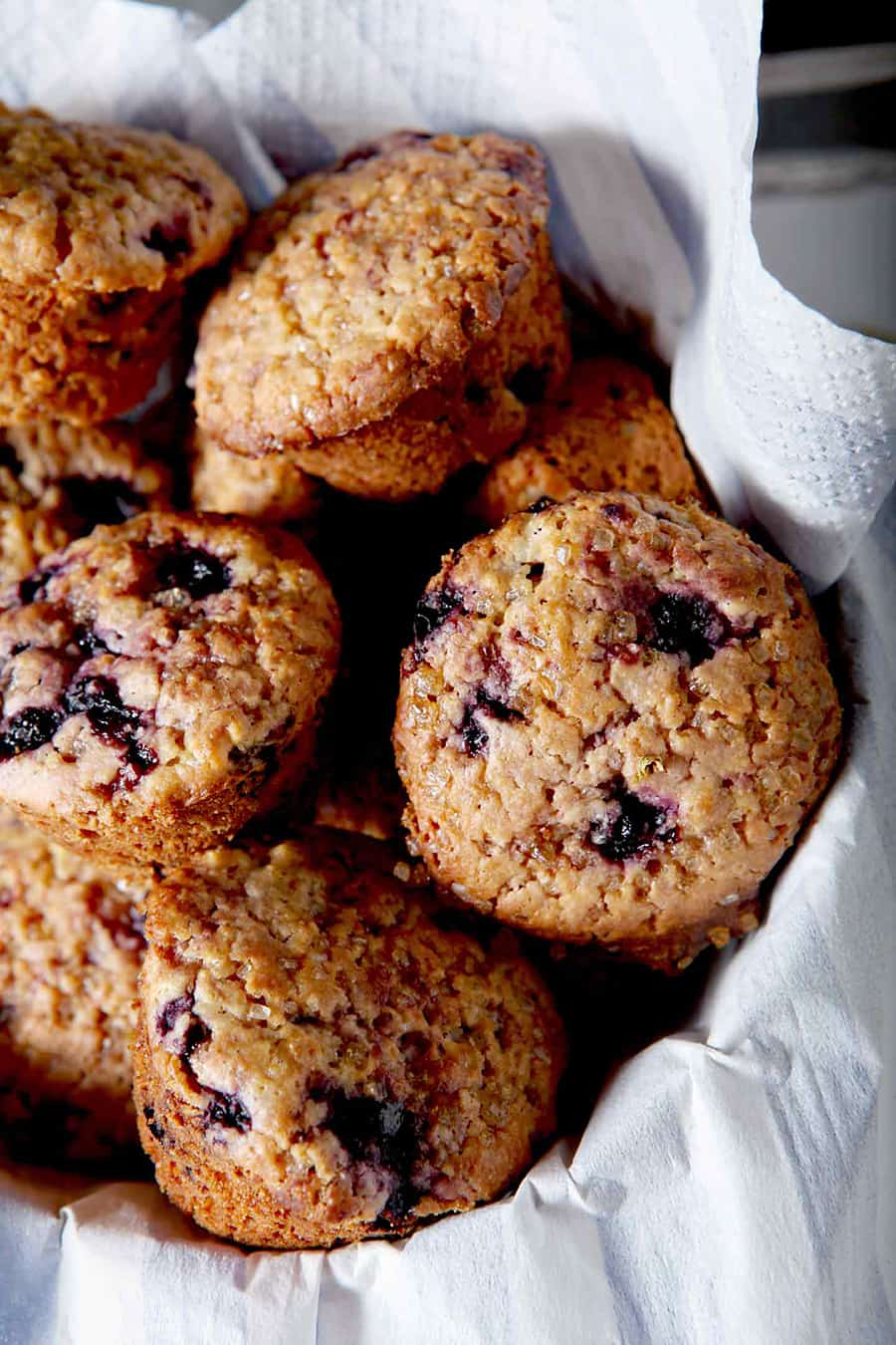 Mini Meyer Lemon Blueberry Muffins make the best winter breakfast for adults and kids alike! Low in sugar, these whole wheat muffins bake up quickly and add lemony goodness to the morning routine. Frozen wild blueberries, Meyer lemon zest and lemon juice serve as key flavor components of these muffins, which are also dairy-free. Naturally sweet, dairy free and tart, Mini Meyer Lemon Blueberry Muffins will become your family's favorite breakfast! blueberry muffins | kids blueberry muffins | kid muffins | lemon muffins | lemon blueberry | toddler muffins | toddler breakfast ideas | playdate ideas | playdate recipes