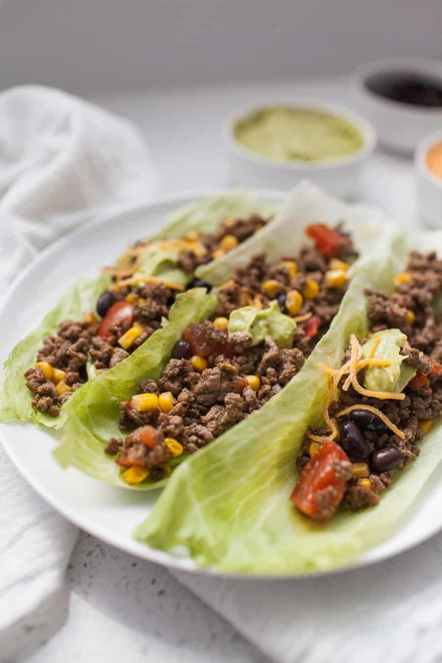 Looking for an easy summer dinner routine? These beef taco lettuce wraps are light, full of flavor and so quick to make, so you can spend less time inside and more time enjoying the season!