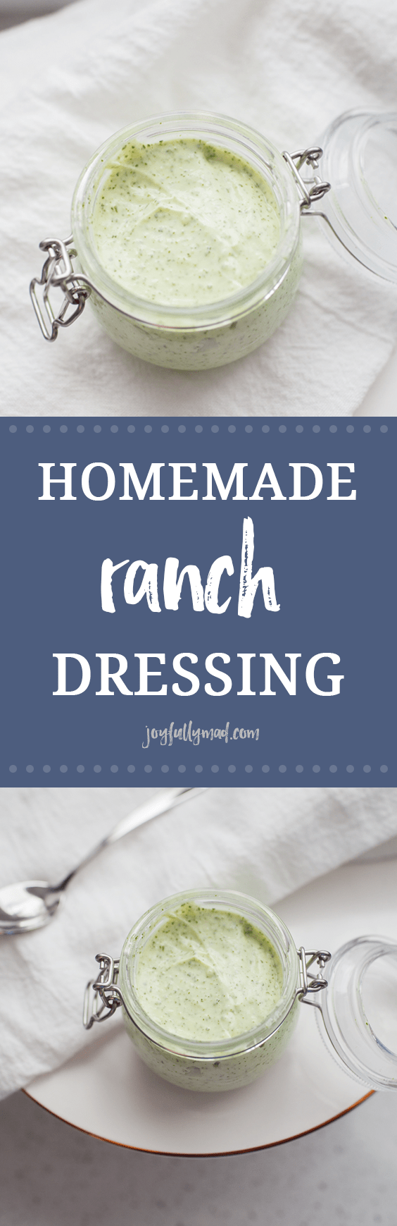 This homemade ranch dressing is made with five simple ingredients and after you make it, you may never buy a bottle of ranch again!