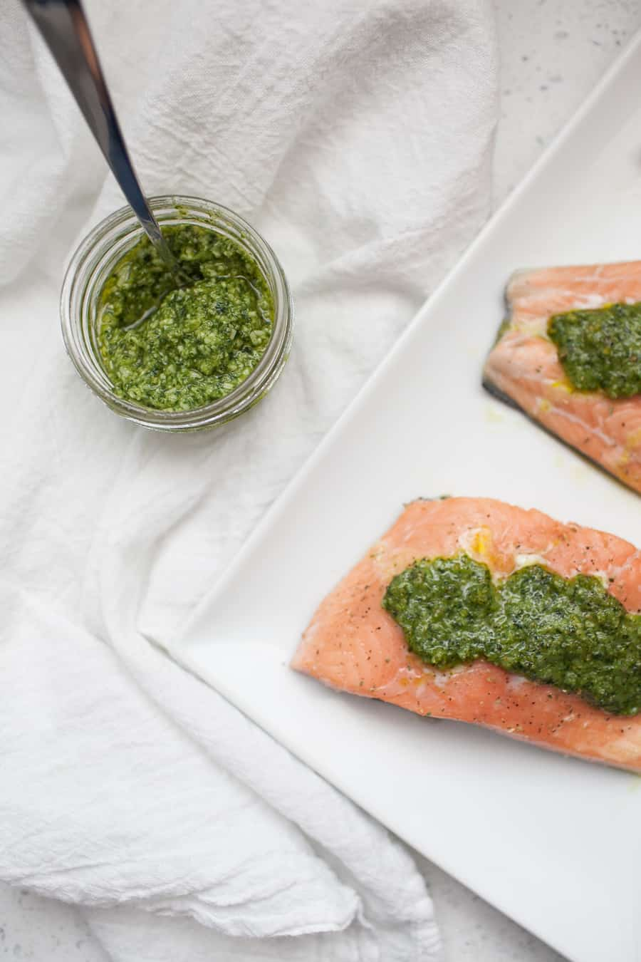 Pesto Baked Salmon Recipe If You're Looking For A Quick Dinner That Won'