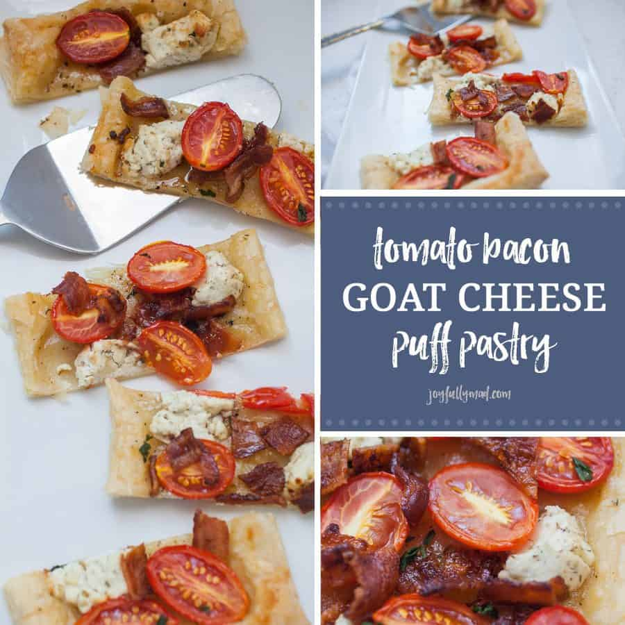 Tomato Bacon Goat Cheese Puff Pastry Appetizer | A ...