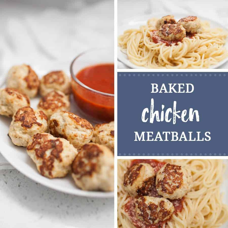 how to make baked ground chicken meatballs