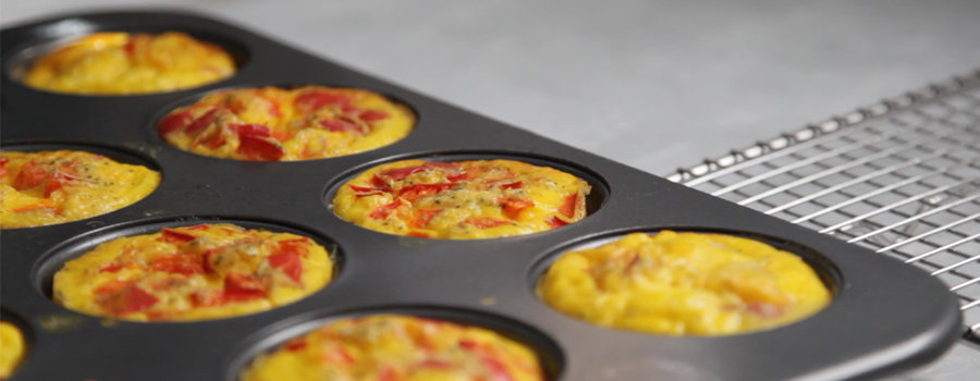 How to make breakfast egg frittata muffins.