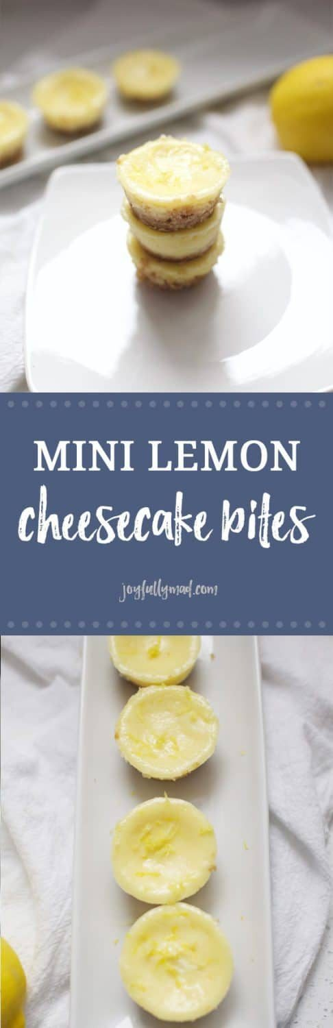 Mini Lemon Cheesecake Bites are the perfect dessert for a party or gathering! These sweet little bites will not last long at your next gathering. The lemon flavor is light and summery, but perfect for any time of year!