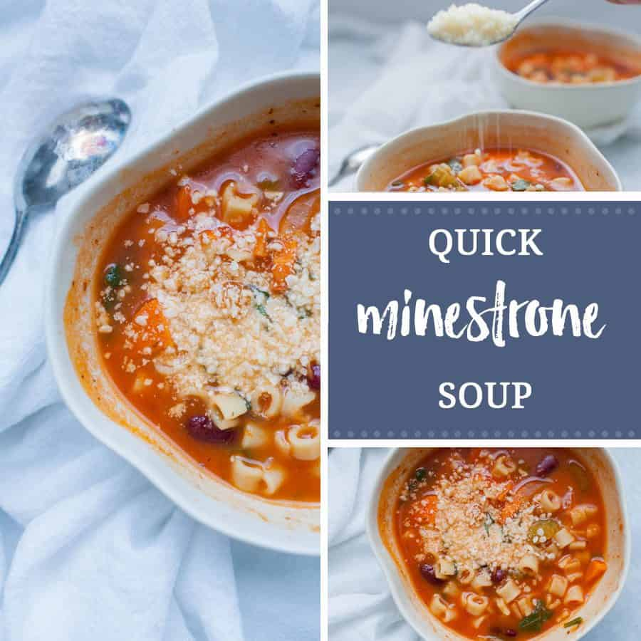 Easy Minestrone Soup In Less Than 30 Minutes