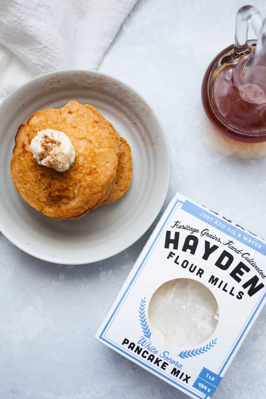 If you love breakfast, you'll love these sweet potato pancakes with whipped maple butter! They're the perfect switch from regular pancakes and have a great sweet potato flavor. Whether or not it's the fall season, these sweet potato pancakes are definitely a must!