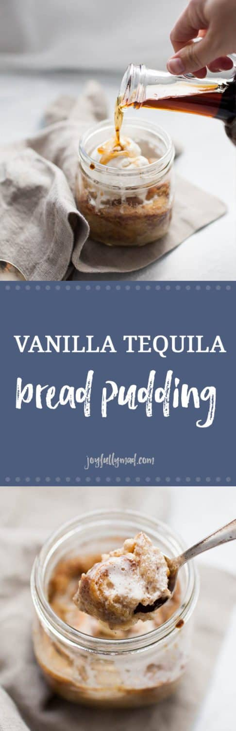 This Vanilla Tequila Bread Pudding is the perfect easy dessert to serve to a crowd or just for two! This boozy bread pudding has the perfect blend of spices and is topped with a scoop of ice cream and a splash of vanilla tequila.