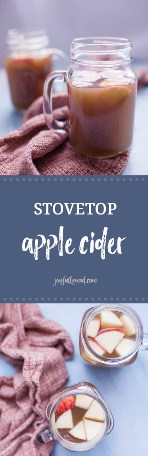 Stovetop apple cider is the epitome of fall drinks! This homemade version is filled with mulling spices that compliment the sweetness of fresh apples so well. A batch of stovetop apple cider won't last long in your house but will fill you all with the spirit of the fall and holidays seasons!