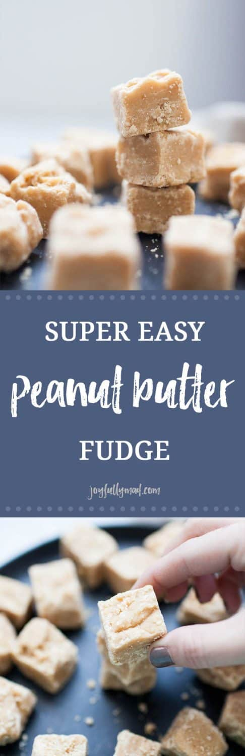 This Peanut Butter Fudge is creamy and indulgent yet super easy to make. You'll wonder how you've ever celebrated without a few pieces of this peanut butter fudge before! It's made with staple fudge ingredients like butter, evaporated milk and sugar plus peanut butter chips and creamy peanut butter to add in that mouth-watering peanut butter flavor. This will become a go-to dessert recipe for all of your parties and gatherings!