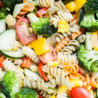 Vegetarian Packed Pasta Salad Without Mayo