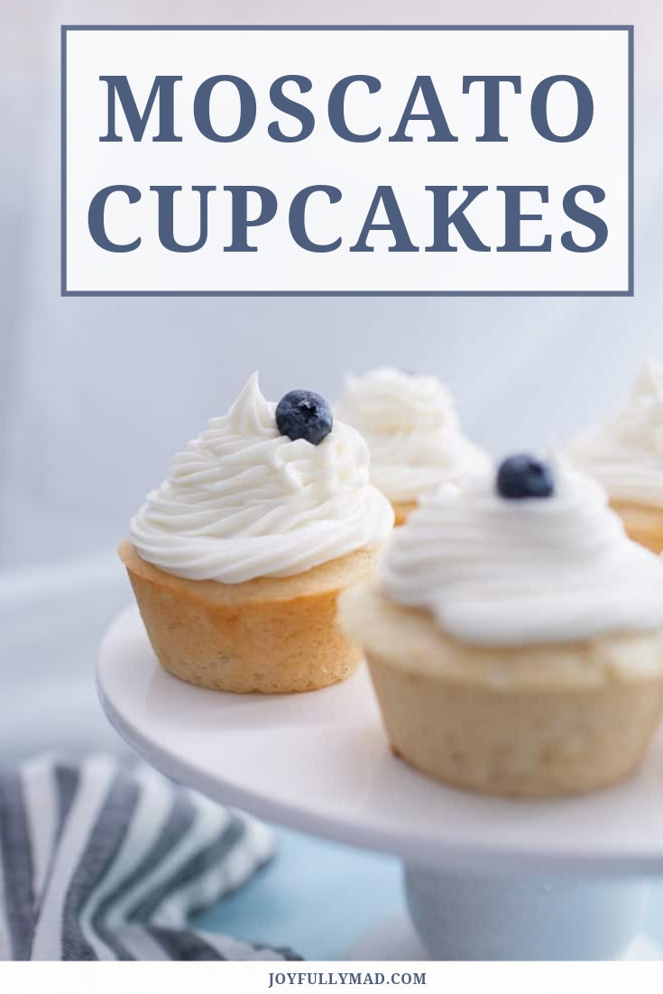 Moscato cupcakes are the perfect dessert to make for any celebration! Adding moscato to cupcakes makes them light in the center, crisp around the edges and adds a boost in flavor.
