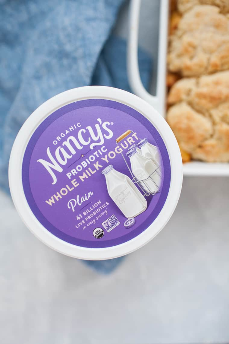 Nancy's greek yogurt container.